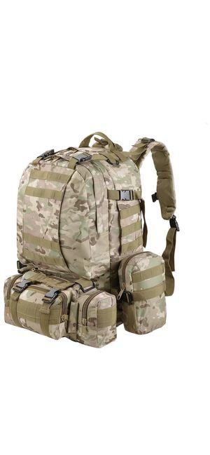 55L Molle Outdoor Military Tactical Bag Camping Hiking Trekking Backpack-CP for Sale in Ontario, CA