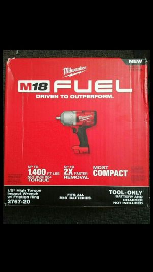 "MILWAUKEE M18 FUEL BRUSHLESS HIGH TORQUE 1400LBS 1/2"" IMPACT 3SPEED NEW. NUEVO TOOL.ONLY💪👍💪👍💪 for Sale in Torrance, CA"