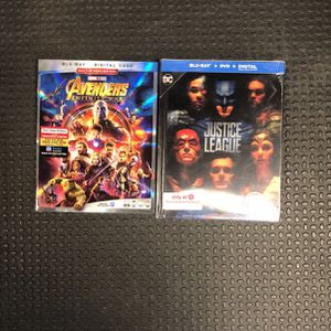 Avengers Infinity War And Justice League Blu-ray Bnib for Sale in Orange, CA