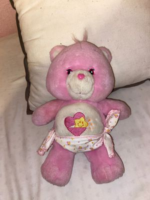 "Baby Hugs Care Bear 2002 Pink wearing Diaper Nappy 10"" TCFC Plush Stuffed Toy for Sale in Los Angeles, CA"