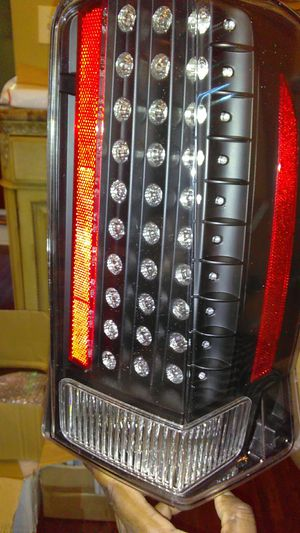 Cadillac Escalade Euro LED black rear lights Set(2) (fits Escalade base or ESV) 2002-2009 models for Sale in Jacksonville, FL