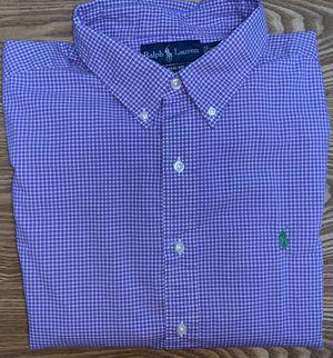 Ralph Lauren Men's Purple Plaid Button Down Dress Shirt XXLarge for Sale in Grand Rapids, MI