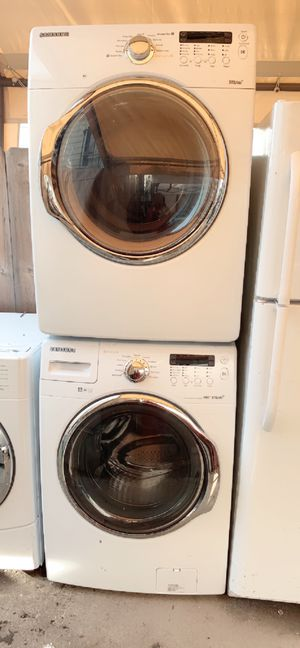 Samsung front load gas washer and dryer with 3 months warranty free delivery and installation for Sale in Oakland, CA