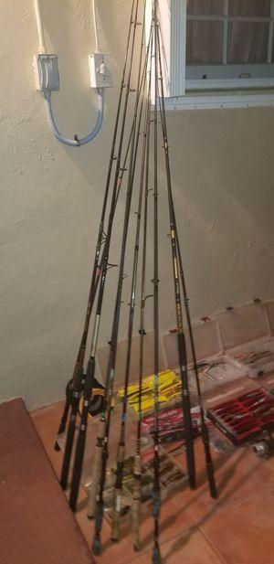Fishing rods for Sale in Glenvar Heights, FL