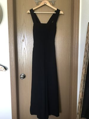 Madewell Womens Apron Bow Back Jumpsuit Black Sz 10 for Sale in Muscatine, IA
