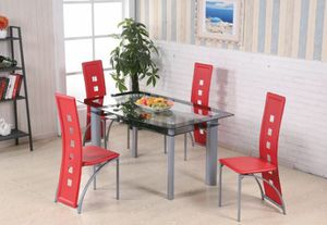 Red 5pc dining table set for Sale in College Park, MD