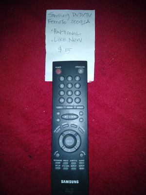 SAMSUNG DVD/TV REMOTE 00092A for Sale in Austin, TX