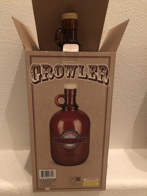 Growler Glass Beer Bottle for Sale in Highland, CA