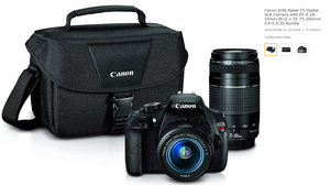 Canon EOS Rebel T5 Digital SLR Camera with EF-S 18-55mm IS II + EF 75-300mm f/4-5.6 III Bundle USED TWICE for Sale in Tigard, OR