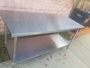 Commercial table stainless steel 34x73 for Sale in Lakewood, CA
