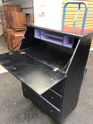 Nice Sturdy SOLID WOOD Secretary Desk for Sale in Arlington, WA