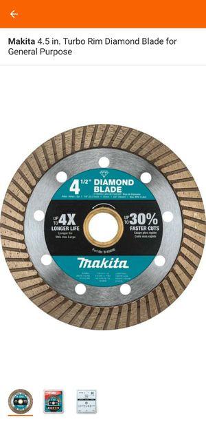 Makita 4.5 in. Turbo Rim Diamond Blade for General Purpose for Sale in Sun City, AZ