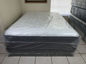 New Queen Pillowtop Mattress Boxspring FREE DELIVERY for Sale in Tampa, FL