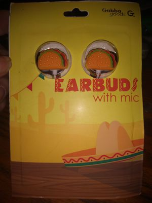 Taco shaped earbuds with mic by Gabba Goods for Sale in Columbus, OH
