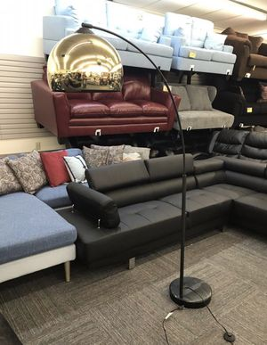 Brand New Retro Gold Floor Lamp with Marble Base and Foot Remote Switch for Sale in Norfolk, VA