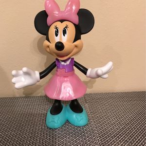 Disney Minnie Mouse Plastic Figurine With Movable Arms And Head for Sale in Clermont, FL