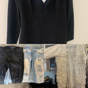 NYE dress, 2 pants, cardigan for Sale in Sandy, UT