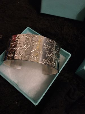 Vintage Tiffany & Co solid Silver 1997 Signature series Cuff for Sale in Mesa, AZ