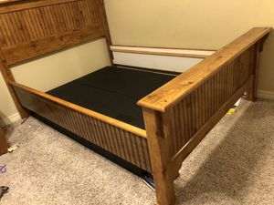 Nice Queen Wooden Bed Frame! for Sale in Bossier City, LA