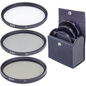 ProOPTIC 77mm Digital Essentials Filter Kit, with Ultra Violet (UV), Thin Circular Polarizer and Neutral Density 2 (ND2) Filters, with Pouch for Sale in Redwood City, CA