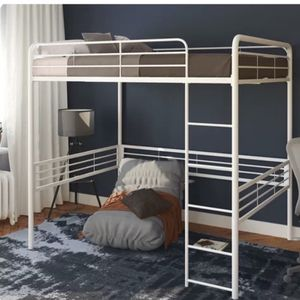 Maximallian White Double Size Metal Loft Bed for Sale in Pittsburgh, PA