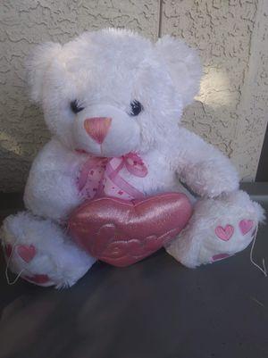 Stuffed white teddy bear for Sale in Avondale, AZ