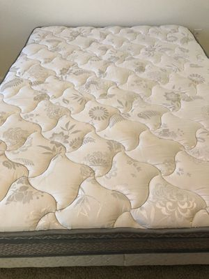 Queen Mattress, Box Spring and Metal Frame for Sale in Wheat Ridge, CO