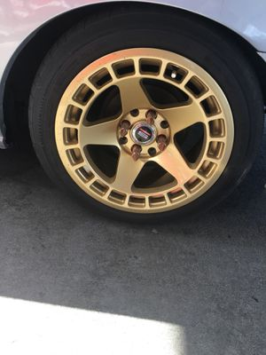 Gold spec 1 rims 15x8 for Sale in Deltona, FL