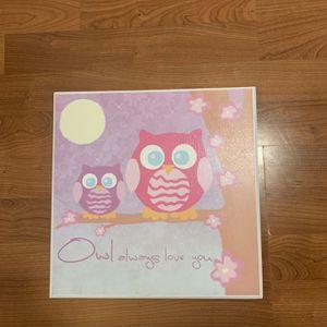 Girl Room Owl Decor for Sale in Miami, FL
