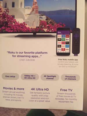 Roku stick with remote for Sale in Austin, TX