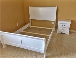 {{ SPECIAL}} White bedroom set.. Dresser mirror nightstand bed frame queen full twin (( king size $599)) for Sale in Houston, TX
