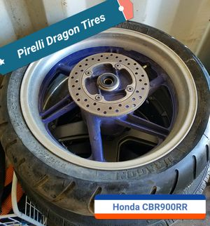 Pirelli Dragon Motorcycle Tires and Rims Honda CBR900RR for Sale in Oak Park, IL