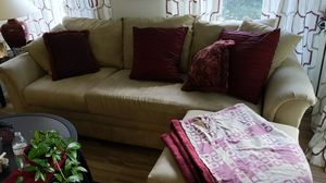 Couch, love seat and ottomans for Sale in Palm Beach, FL