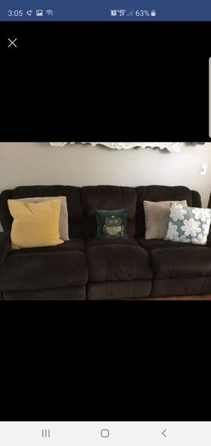 Brown reclining couches for Sale in Toms River, NJ