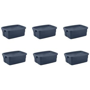 10 Gallon Rugged Stackable Storage Tote Container (6 Pack) for Sale in Los Angeles, CA