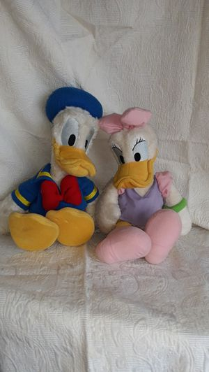 Donald Duck and Daisy stuffed animals for Sale in Sacramento, CA