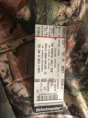 The Immortal World Tour, Michael Jackson Concert ticket for Sale in Burlington, NC