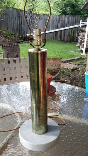 Brass Lamp w Solid Marble Bottom. Nice Lamp. for Sale in Norman, OK