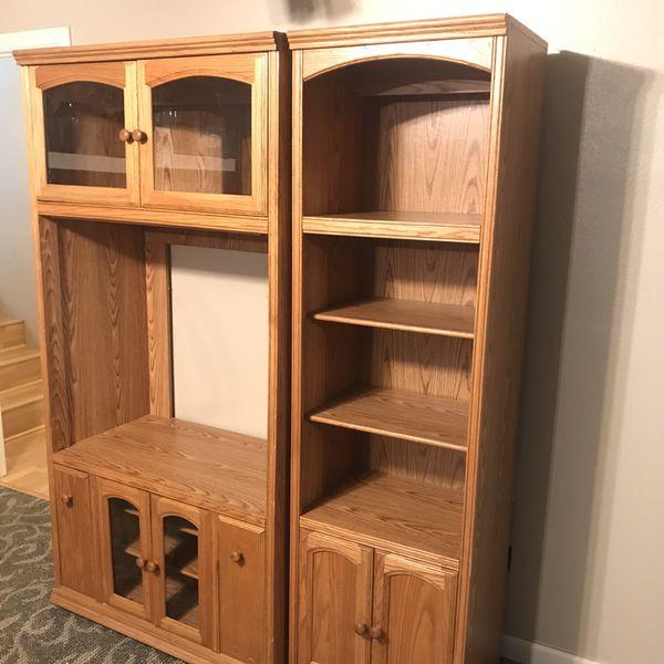 Oak Bookshelves