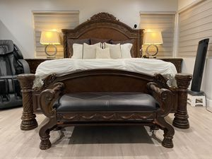 MOVING SALES ! 6pc SOLID WOOD SET FROM ASHLY's luxury line furniture for Sale in Fullerton, CA
