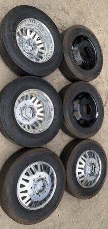 New American Force Rims And New TireS 8 Lug Wheels will fit Dually 3500 / 4500 trucks ! AmericanForce Forces Rines y llantas 2017 GMC 2016 Sierra 201 for Sale in Dallas, TX