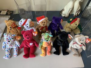 Beanie baby collection mint condition all the rare ones for Sale in Fort Lauderdale, FL