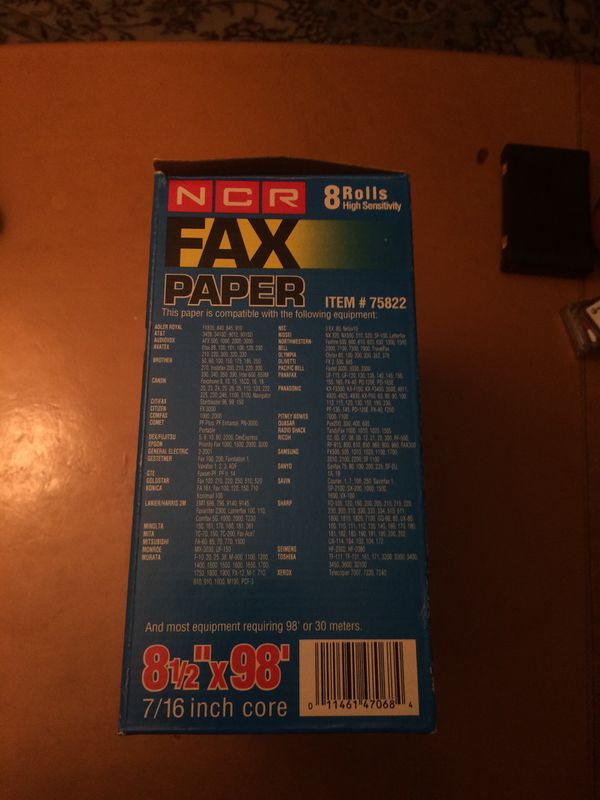 7 rolls of Fax papers