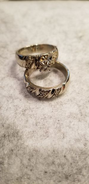 Womans beautiful 14kt gold wedding engagement rings with diamonds for Sale in South Gate, CA