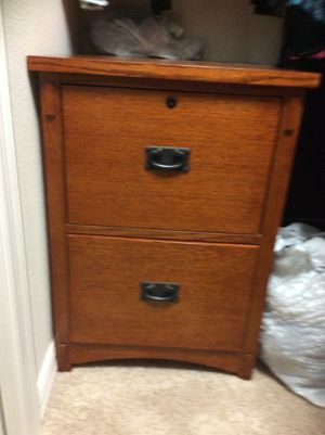 Wood file cabinet. Excellent condition. for Sale in The Villages, FL