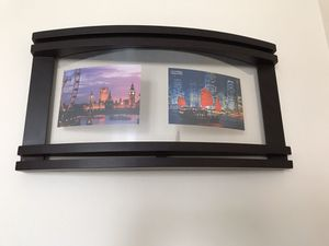 """Collage picture , photo frame. Design 3 D style. Hanging decor for home, office, studio or gallery. Feet's 4 pictures. Size 22.5 """"X 12"""". I have 2 for Sale in Sunny Isles Beach, FL"""