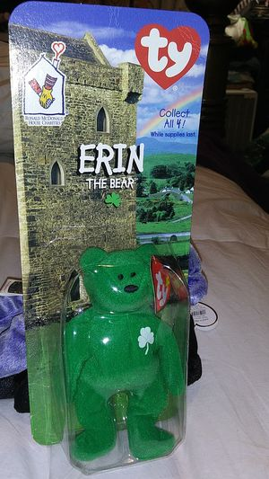 """Erin The Bear"" Beanie Babie for Sale in Marietta, GA"