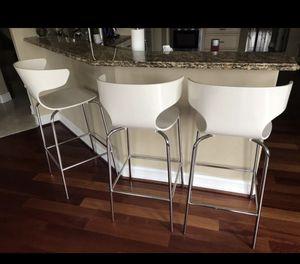West elm 3 Bar stools for Sale in Clarkston, MI