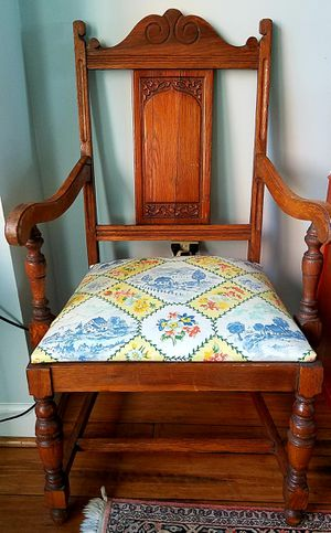 Antique Tudor oak chair for Sale in Arlington, VA