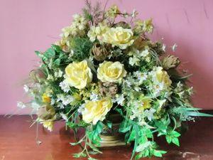 Yellow Silk Roses Arrangement for Sale in Washington, DC